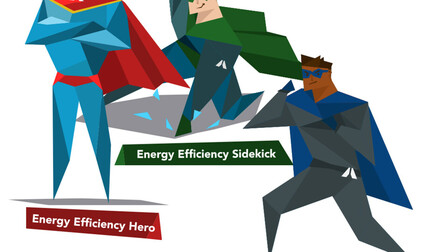 Energy Efficiency E-learning tool, avatars, energy efficiency hero, sidekick, or novice?