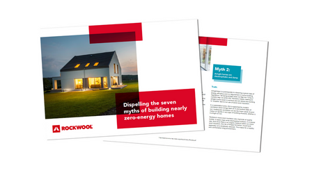 Rockzero Dispelling the 7 myths of building nearly zero-energy homes guide cover