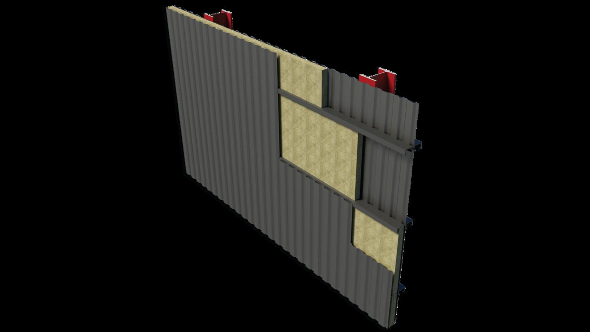 Double Skin Metal Wall BIM image