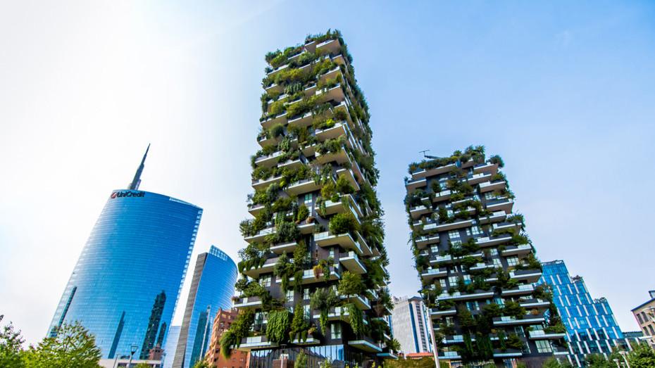 Driving innovation through renovation in Milan. Balcony. Urban nature
